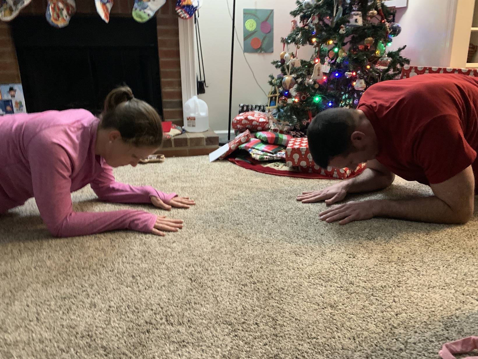 30 day plank challenge by the tree