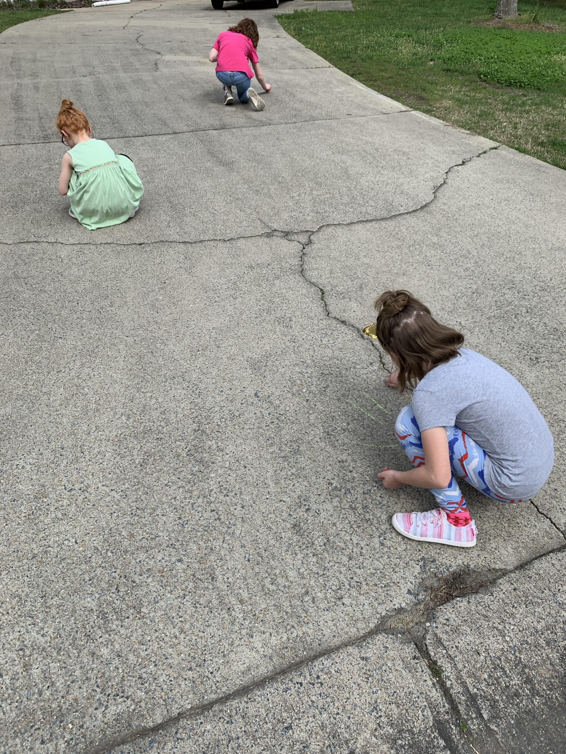 chalking neighbors driveways
