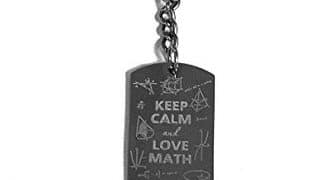 18. Keep Calm and Love Math- Metal Ring Key Chain Keychain