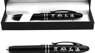 """11. """"Symbols of Mathematics"""" Engraved Gift Pen w/LED Light & Stylus"""
