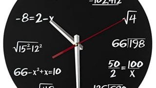 19. Math Wall Clock - Each Hour Marked by a Simple Math Equation