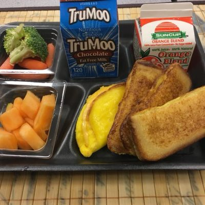 Cobb County - Egg and Toast fruit and veggies