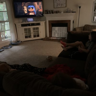 Watching Sonic at home