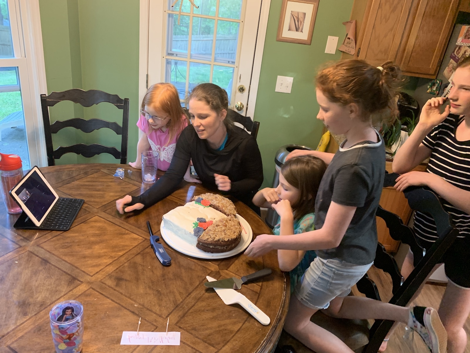 my virtual birthday party with cake | family birthday celebration on zoom