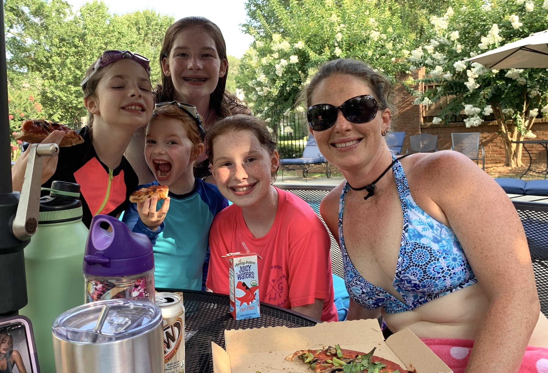 pizza and pool family fun