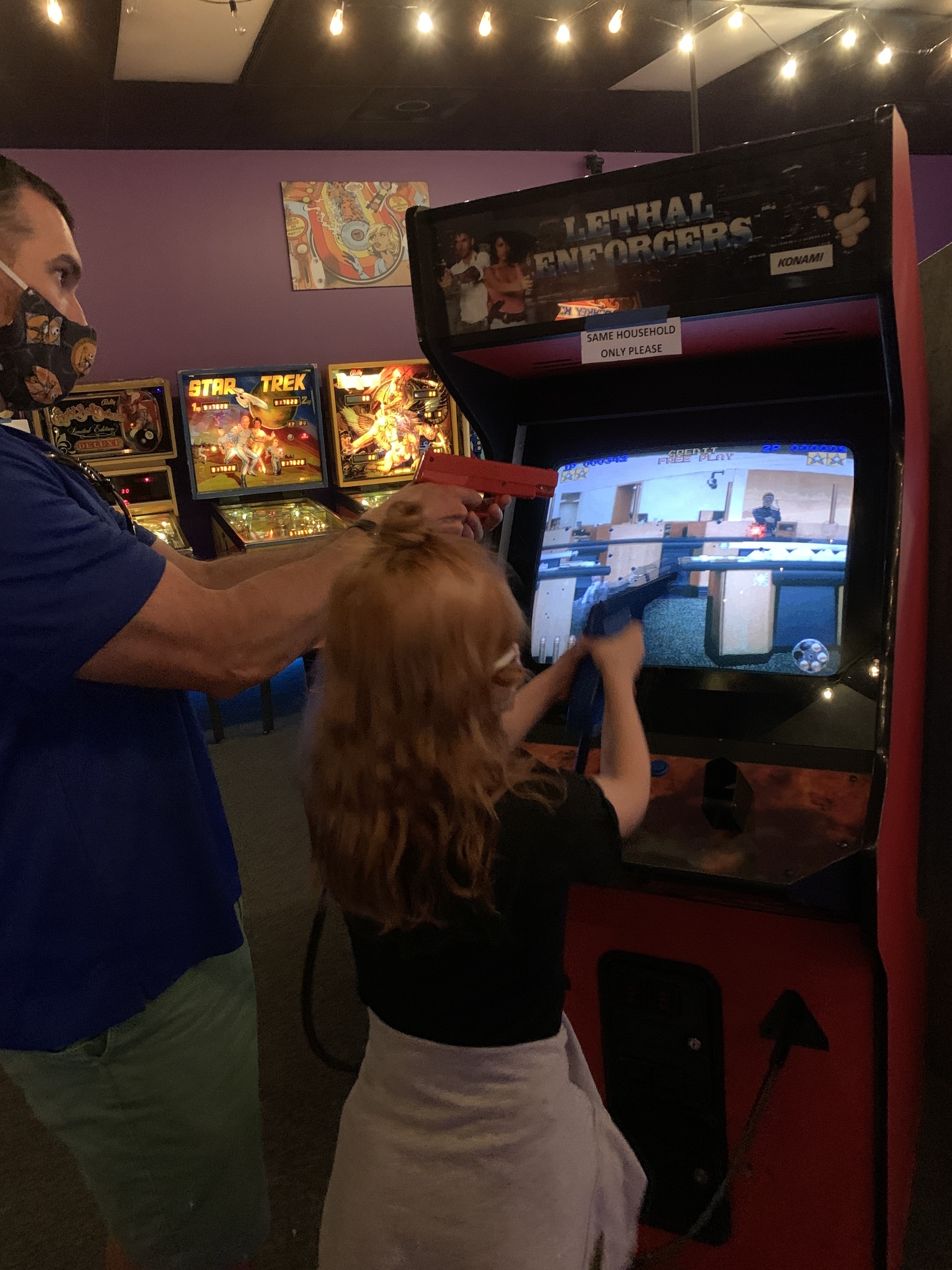 Pinball and video games private event