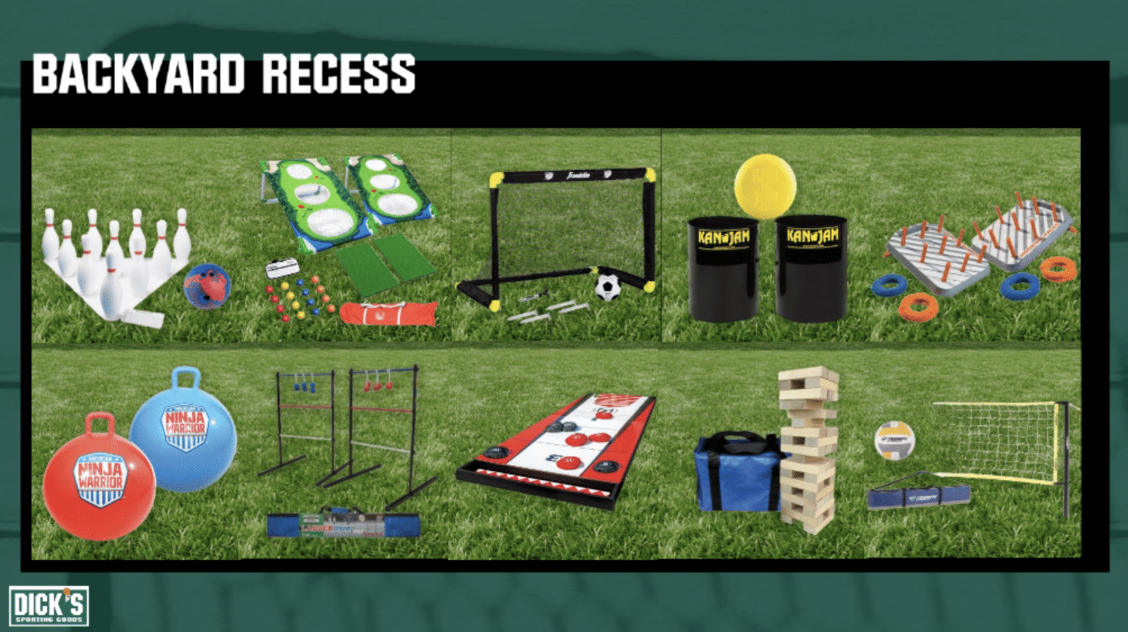Backyard Recess games at Dick's