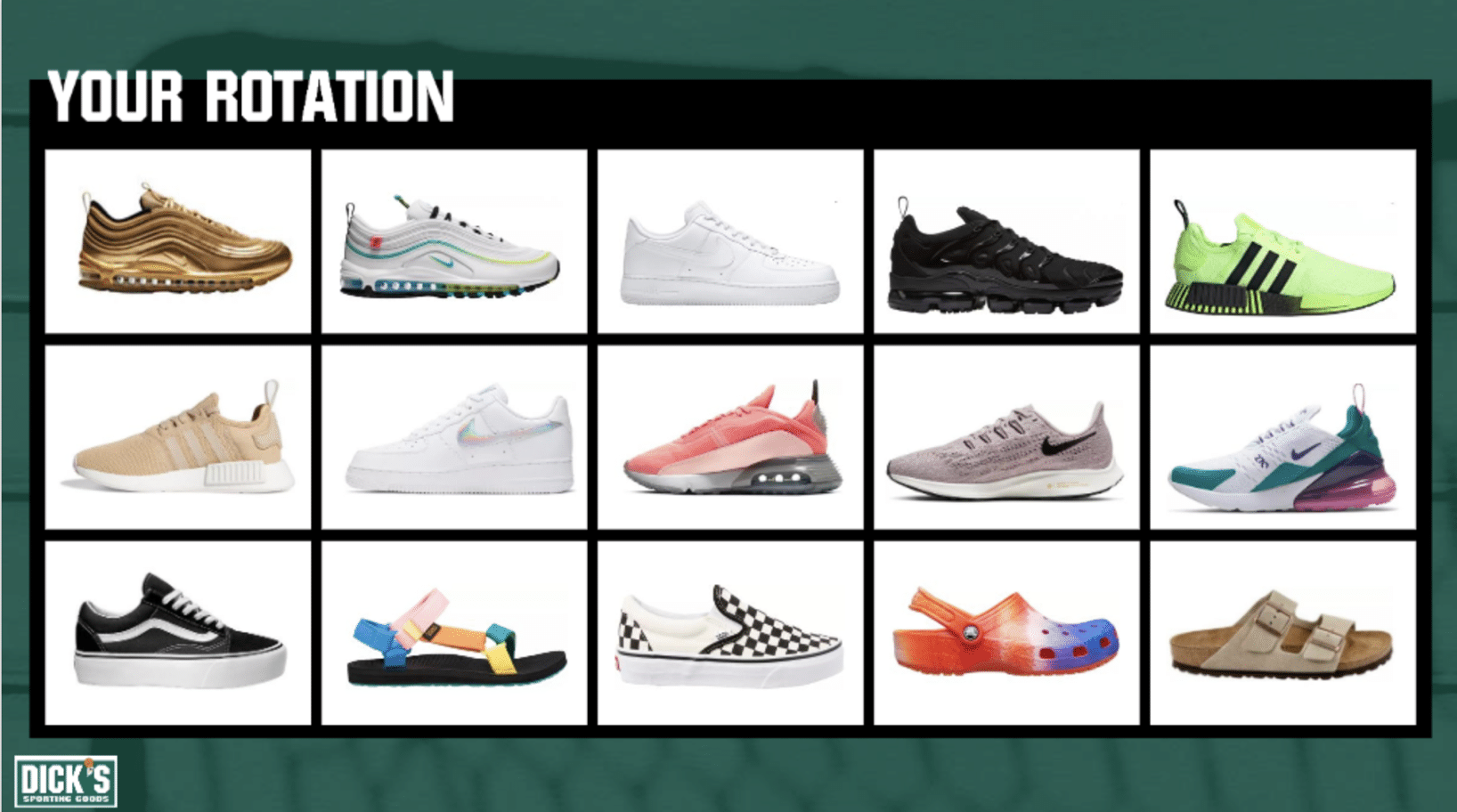Dick's footwear options
