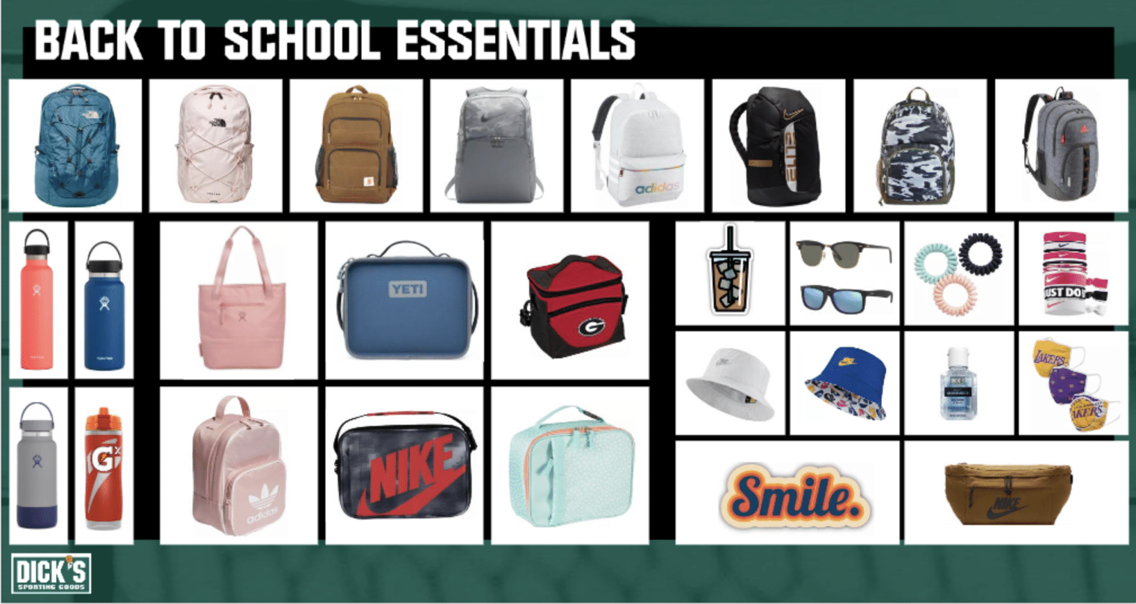 dick's back to school essentials