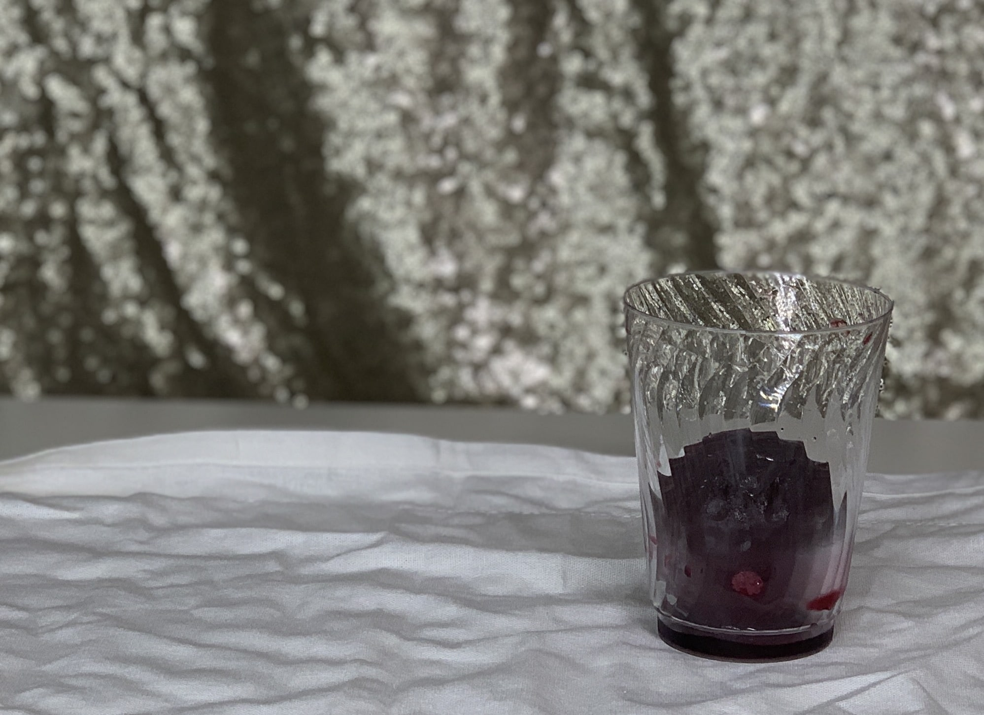 ice mold in glass