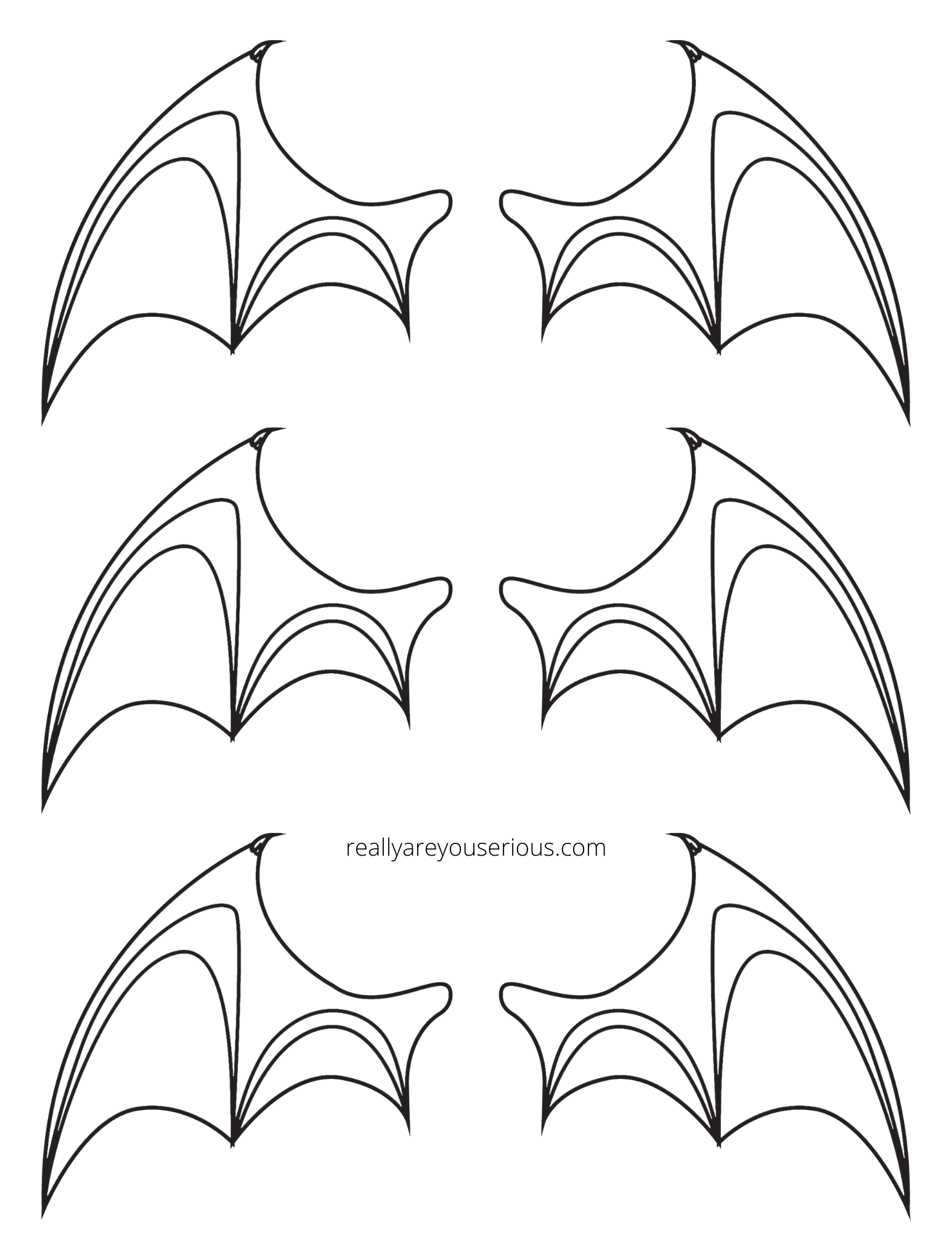 bat wings printable
