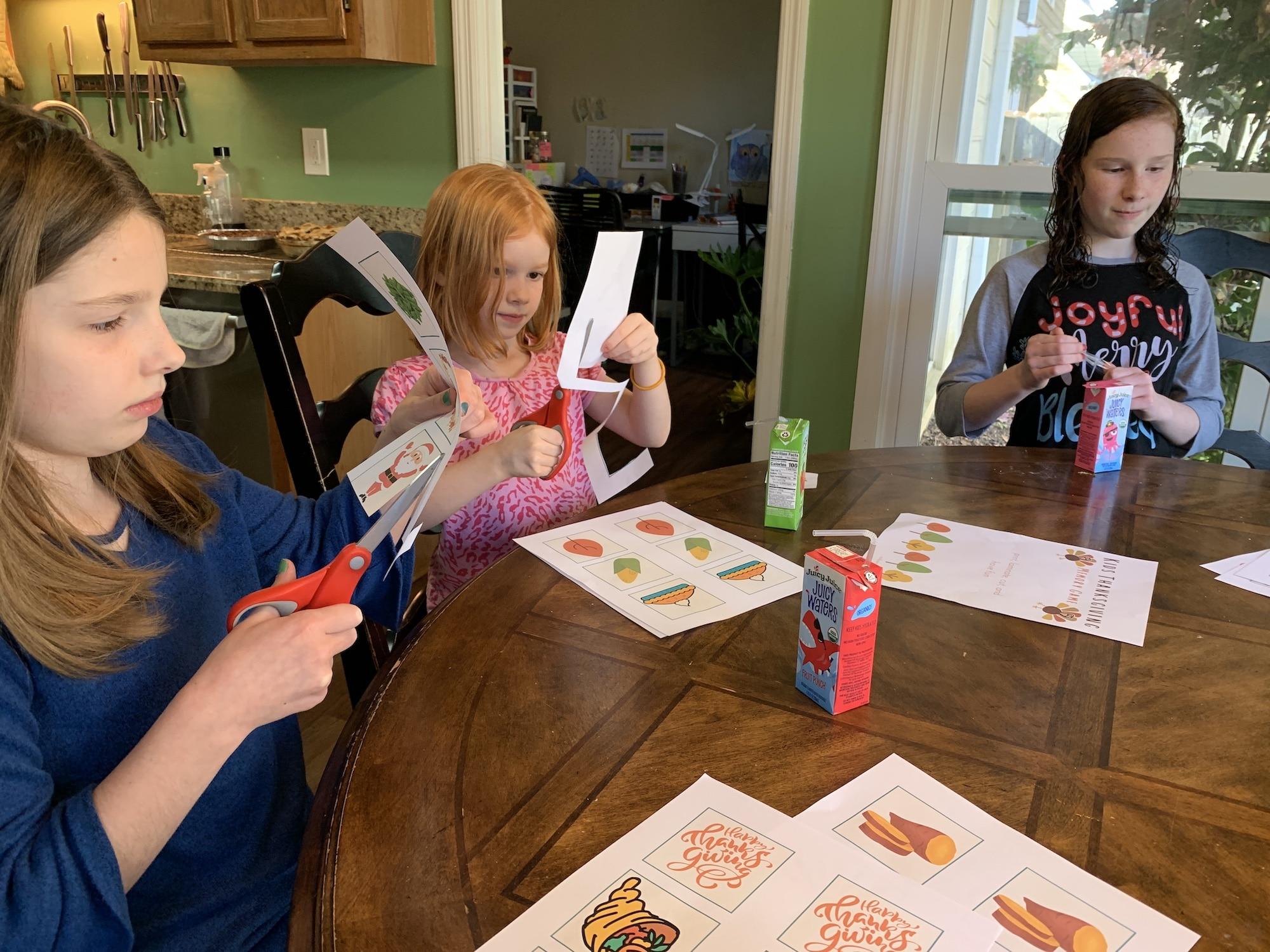 preparing thanksgiving matching game