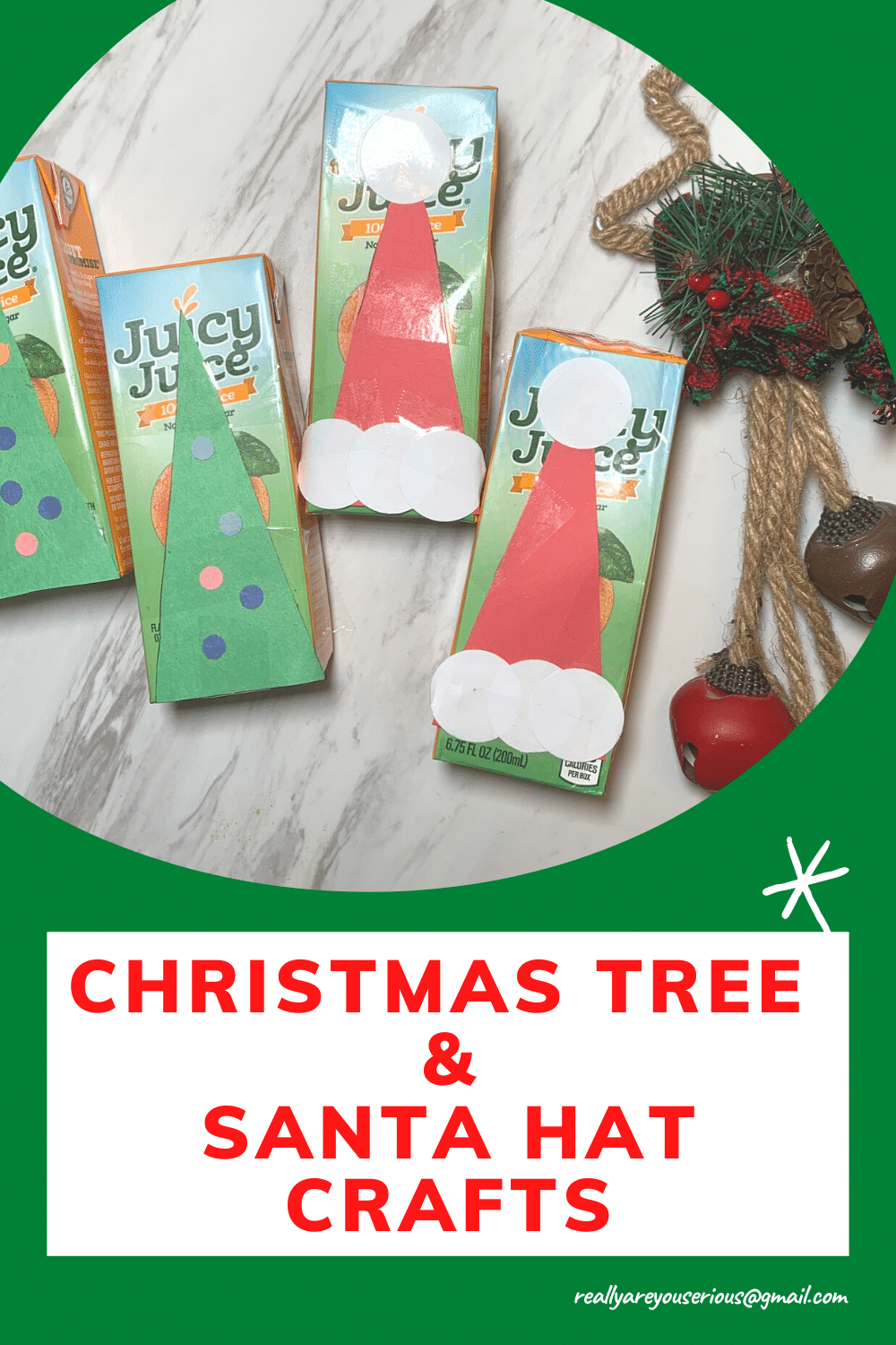 christmas tree and santa hat crafts