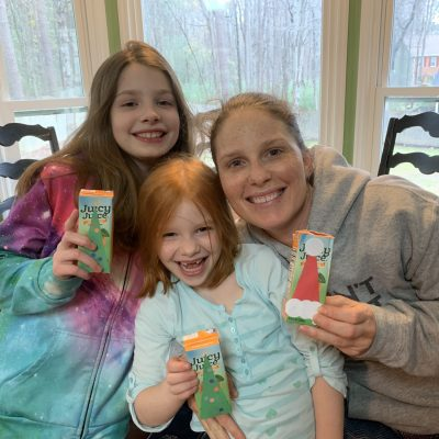 mommy and me monday christmas juice boxes