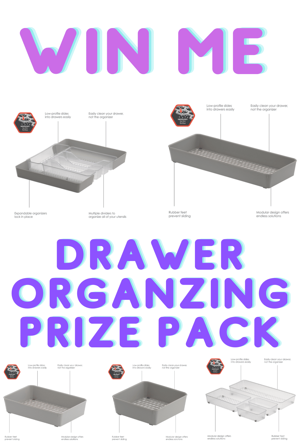 win me prize pack drawer organizer
