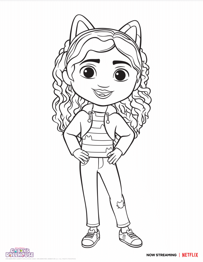 Gabby Dollhouse Coloring Sheet