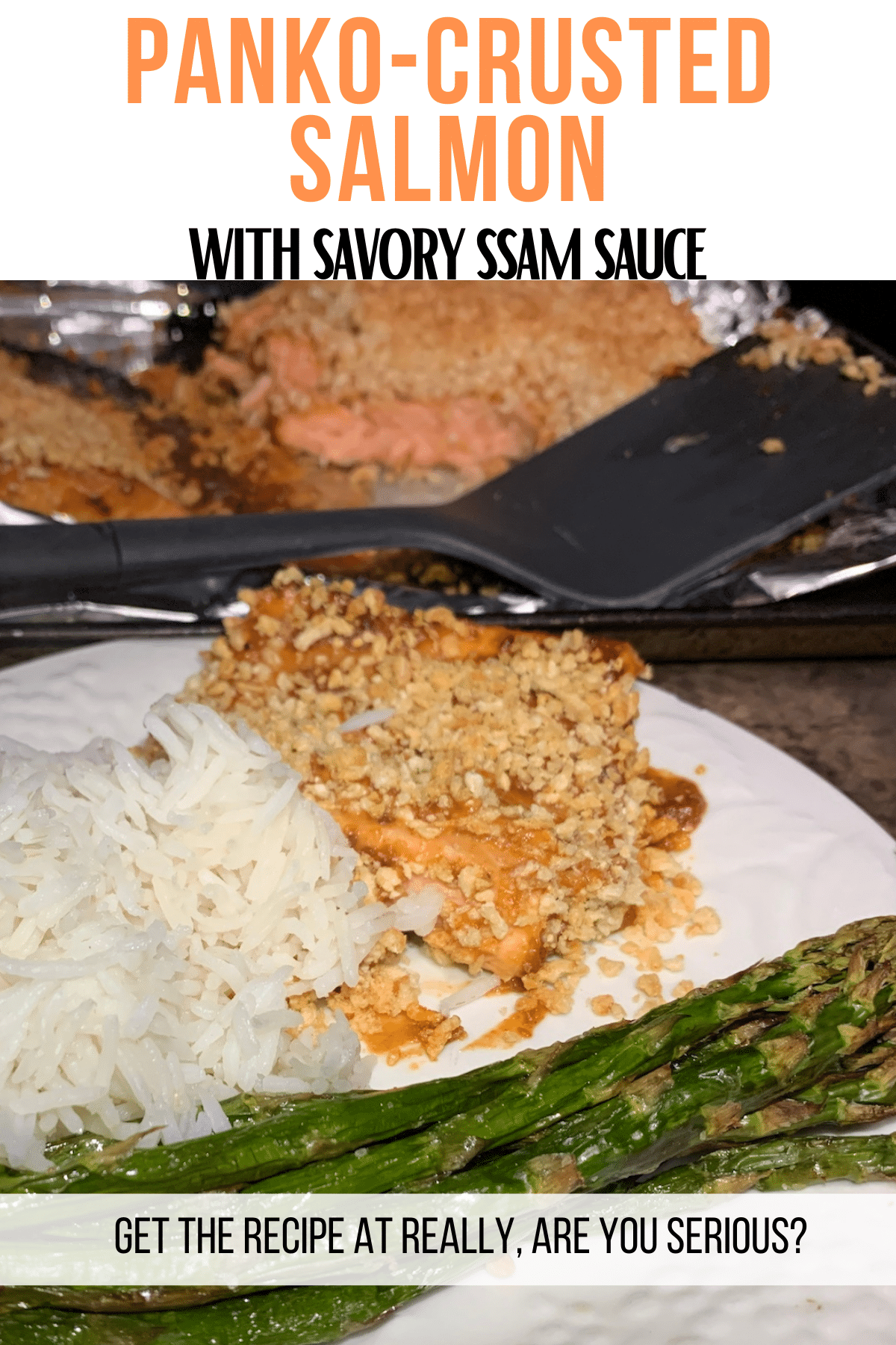 panko crusted salmon with savory ssam sauce
