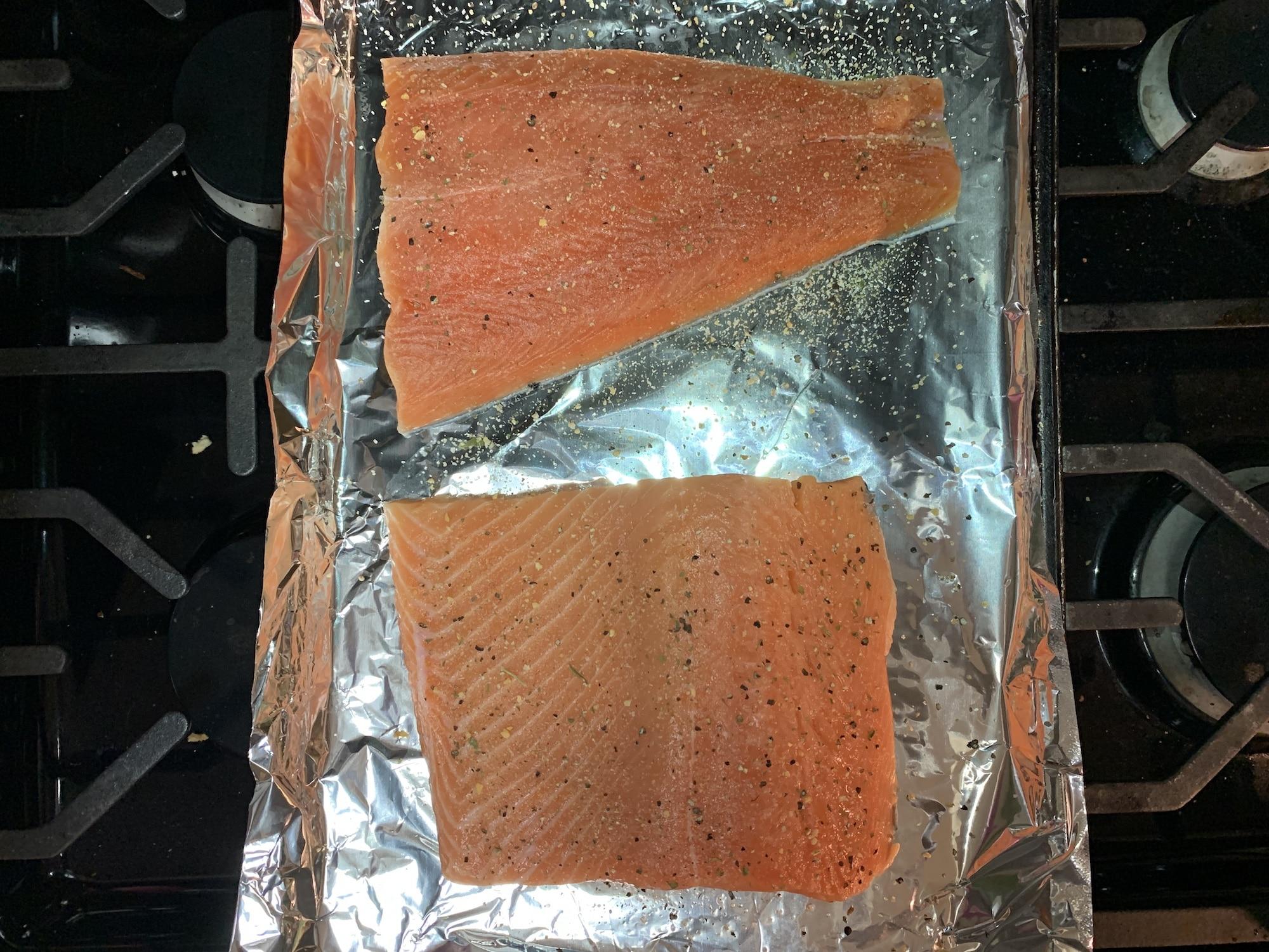 salmon with garlic pepper