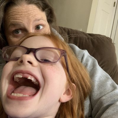 silly face with B